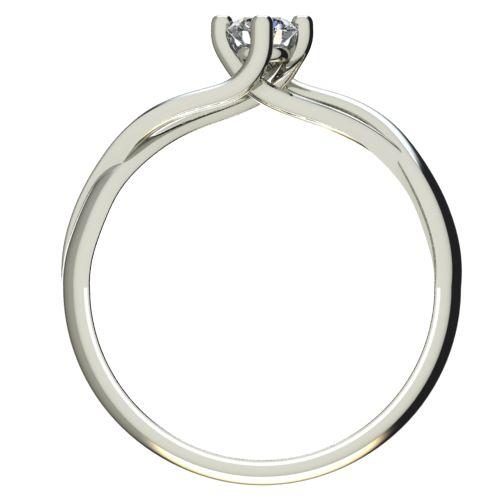 Годежен Пръстен бяло злато с диамант Cast 0,17 ct. 2470 b
