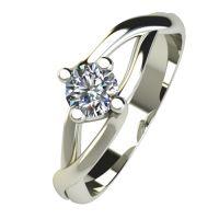 Годежен Пръстен бяло злато с диамант Cast 0,25 ct. 2471
