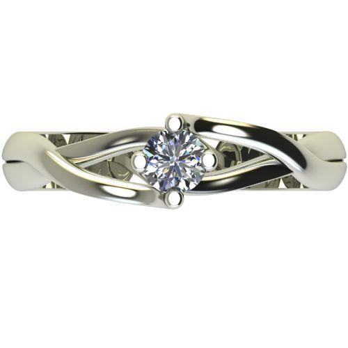 Годежен Пръстен бяло злато с диамант Cast 0,25 ct. 2471 a
