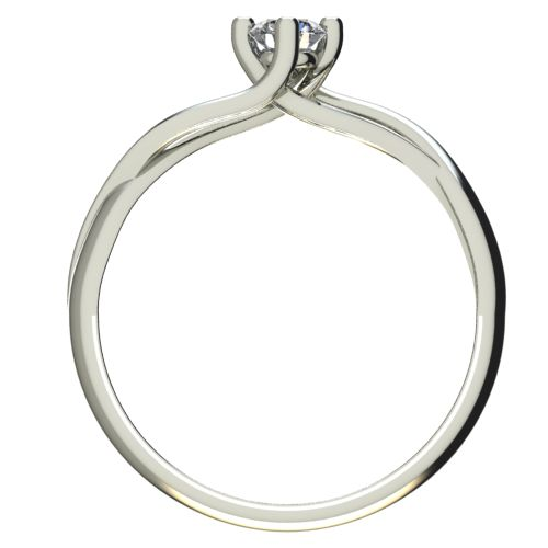 Годежен Пръстен бяло злато с диамант Cast 0,25 ct. 2471 b
