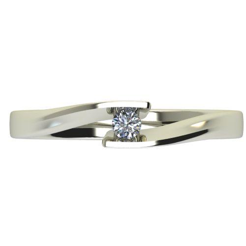Годежен Пръстен бяло злато с диамант Date 0,04 ct. 2473 a