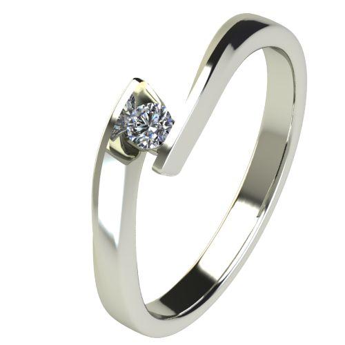 Годежен Пръстен бяло злато с диамант Date 0,04 ct. 2473
