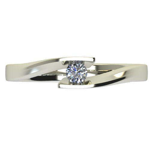 Годежен Пръстен бяло злато с диамант Date 0,07 ct. 2474 a
