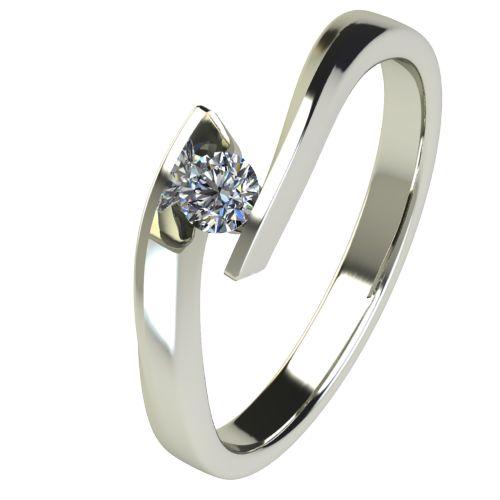 Годежен Пръстен бяло злато с диамант Date 0,07 ct. 2474