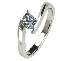 Годежен Пръстен бяло злато с диамант Date 0,17 ct. 2476