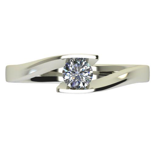 Годежен Пръстен бяло злато с диамант Date 0,17 ct. 2476 a