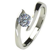 Годежен Пръстен бяло злато с диамант Date 0,25 ct. 2477