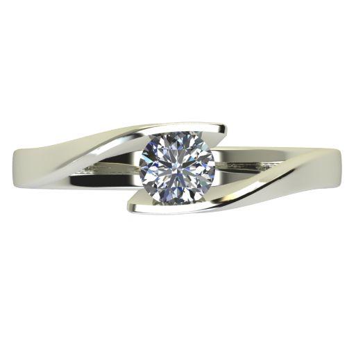 Годежен Пръстен бяло злато с диамант Date 0,25 ct. 2477 a