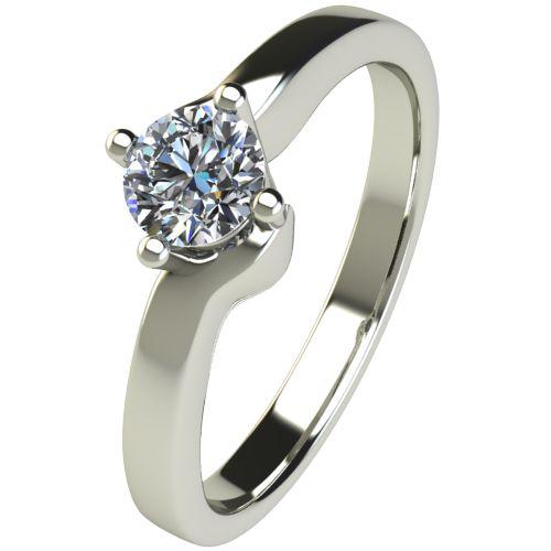 Годежен Пръстен бяло злато с диамант Chase 0,25 ct. 2478