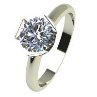 Годежен Пръстен бяло злато с диамант Flores 0,25 ct. 2480