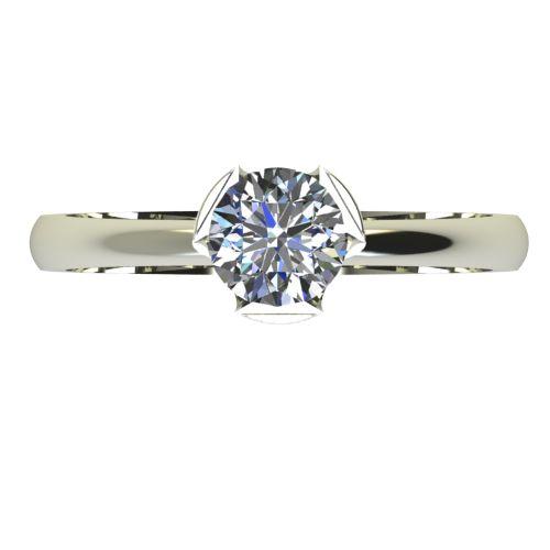 Годежен Пръстен бяло злато с диамант Flores 0,25 ct. 2480 a