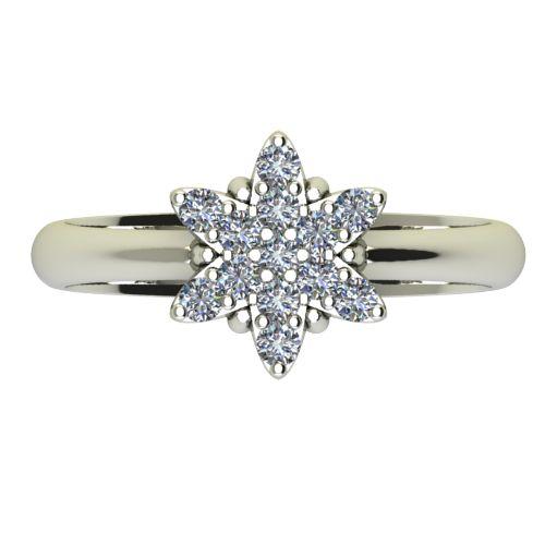Годежен Пръстен бяло злато с диамант Snowy 0,195 ct. 2479 a