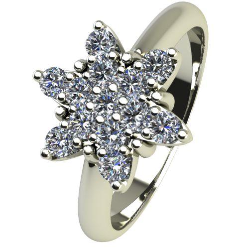 Годежен Пръстен бяло злато с диамант Snowy 0,195 ct. 2479