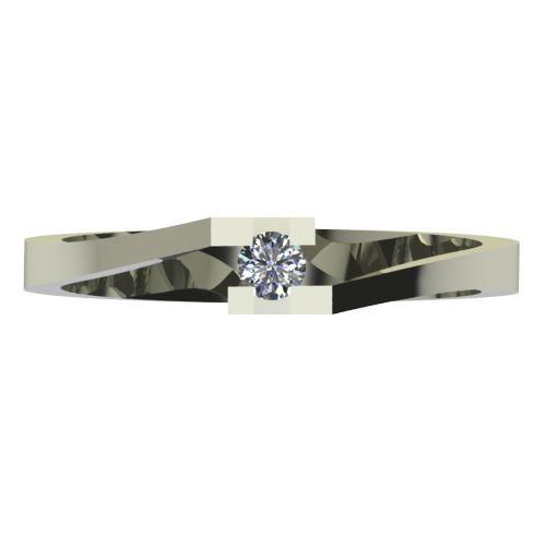 Годежен Пръстен бяло злато с диамант Chase 0,04 ct. 2497 a