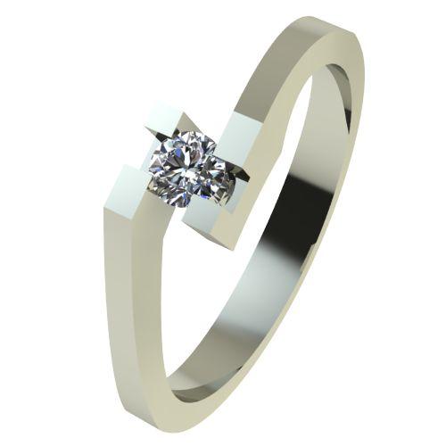 Годежен Пръстен бяло злато с диамант Chase 0,04 ct. 2497