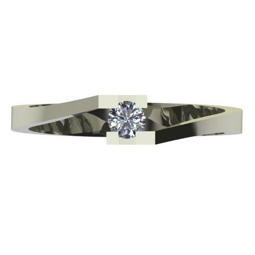Годежен Пръстен бяло злато с диамант Chase 0,07 ct. 2498 a