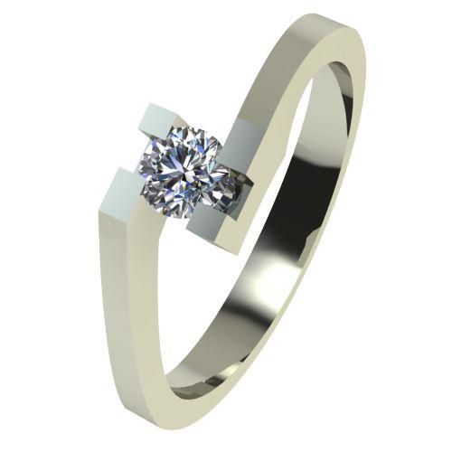 Годежен Пръстен бяло злато с диамант Chase 0,07 ct. 2498