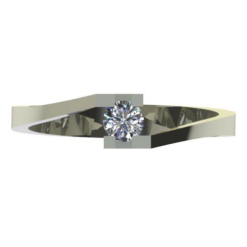 Годежен Пръстен бяло злато с диамант Chase 0,12 ct. 2499 a