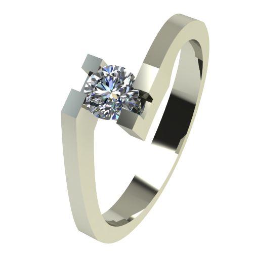 Годежен Пръстен бяло злато с диамант Chase 0,12 ct. 2499