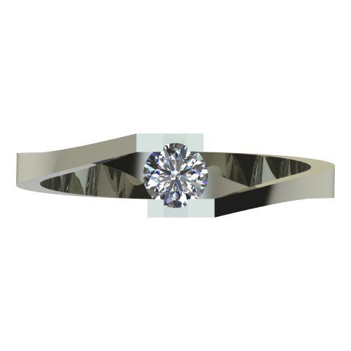 Годежен Пръстен бяло злато с диамант Chase 0,17 ct. 2500 a