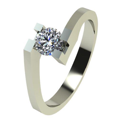 Годежен Пръстен бяло злато с диамант Chase 0,17 ct. 2500