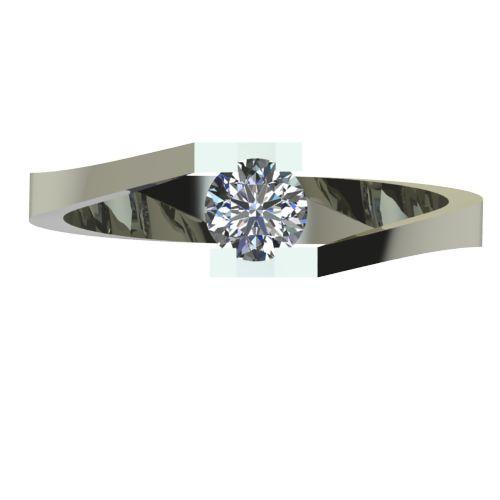 Годежен Пръстен бяло злато с диамант Chase 0,25 ct. 2501 a