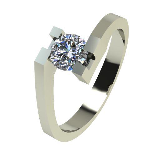 Годежен Пръстен бяло злато с диамант Chase 0,25 ct. 2501
