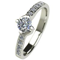 Годежен Пръстен бяло злато с диамант Chase 0,40 ct. 2491