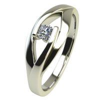 Годежен Пръстен бяло злато с диамант Eyes 0,04 ct. 2485
