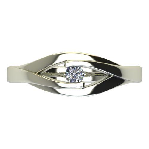 Годежен Пръстен бяло злато с диамант Eyes 0,04 ct. 2485 a