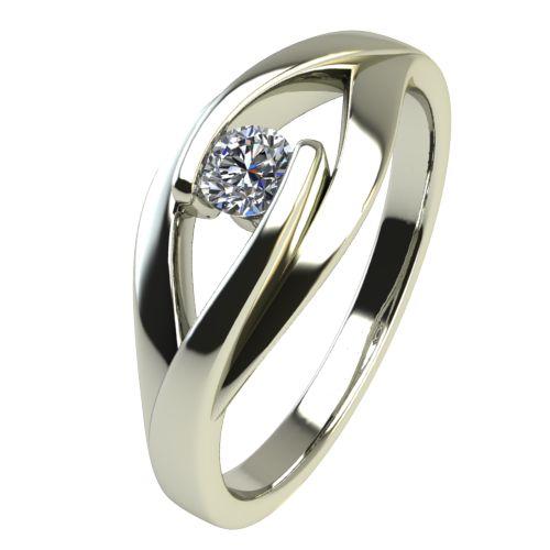 Годежен Пръстен бяло злато с диамант Eyes 0,07 ct. 2486