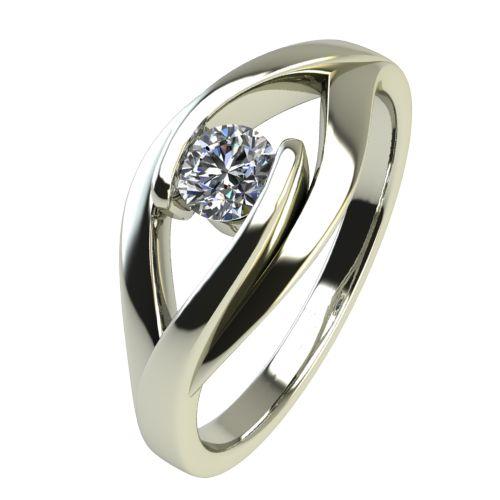 Годежен Пръстен бяло злато с диамант Eyes 0,12 ct. 2487