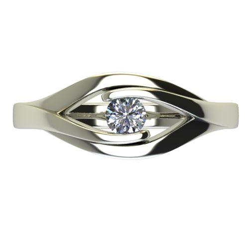 Годежен Пръстен бяло злато с диамант Eyes 0,12 ct. 2487 a