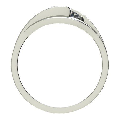 Годежен Пръстен бяло злато с диамант Eyes 0,12 ct. 2487 b