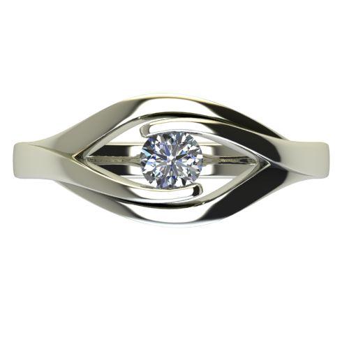 Годежен Пръстен бяло злато с диамант Eyes 0,17 ct. 2488 a
