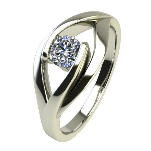 Годежен Пръстен бяло злато с диамант Eyes 0,17 ct. 2488