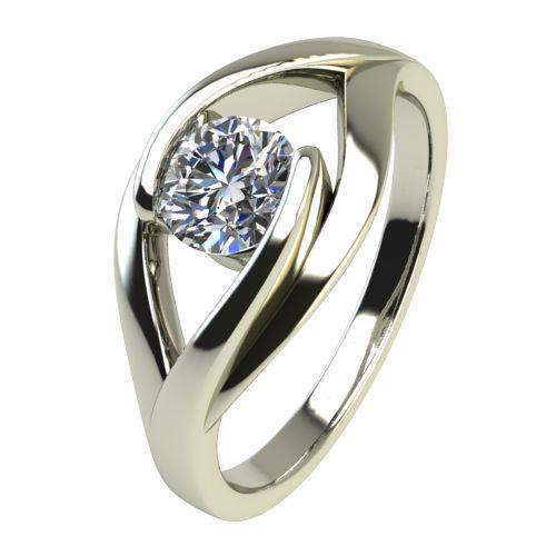 Годежен Пръстен бяло злато с диамант Eyes 0,25 ct. 2489