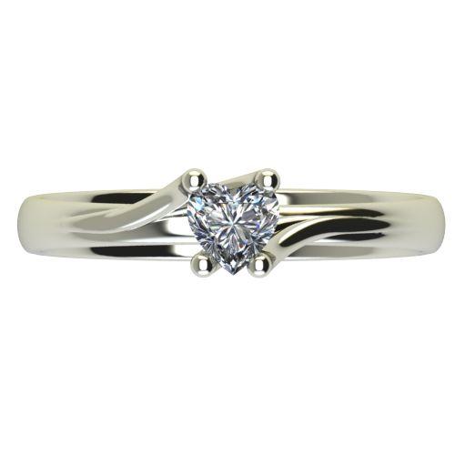 Годежен Пръстен бяло злато с диамант Heart 0,25 ct. 2484 a