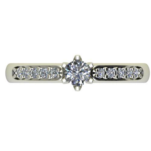 Годежен Пръстен бяло злато с диамант Nova 0,32 ct. 2482 a