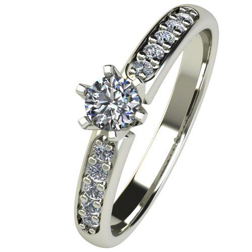Годежен Пръстен бяло злато с диамант Nova 0,32 ct. 2482