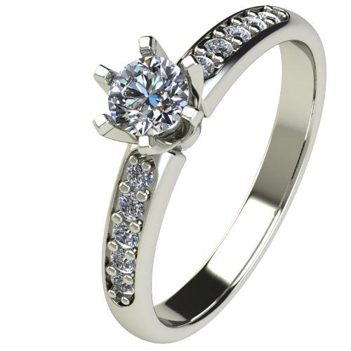 Годежен Пръстен бяло злато с диамант Nova 0,40 ct. 2483