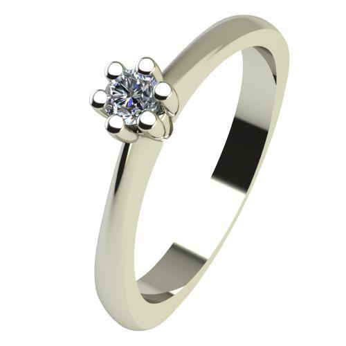 Годежен Пръстен бяло злато с диамант Piece 0,04 ct. 2492