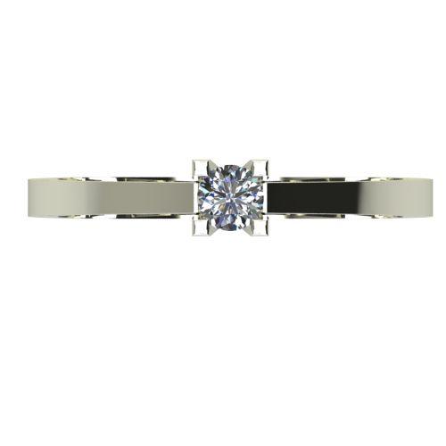 Годежен Пръстен бяло злато с диамант Piece 0,04 ct. 2502 a