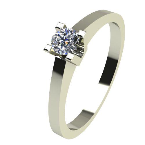 Годежен Пръстен бяло злато с диамант Piece 0,04 ct. 2502