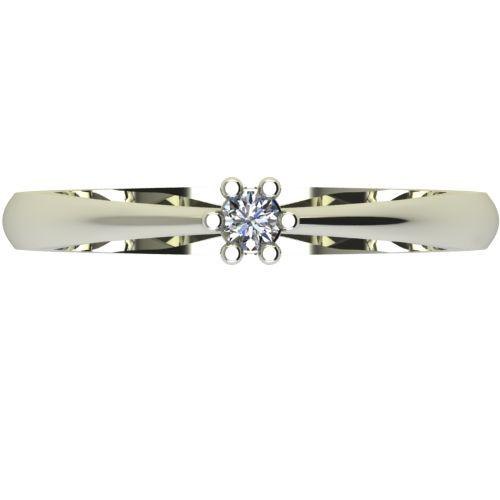 Годежен Пръстен бяло злато с диамант Piece 0,07 ct. 2493 a