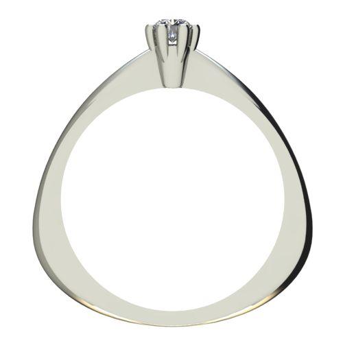 Годежен Пръстен бяло злато с диамант Piece 0,07 ct. 2493 b