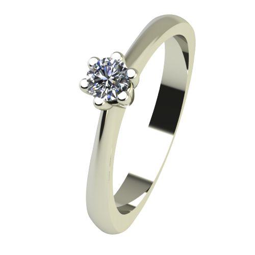 Годежен Пръстен бяло злато с диамант Piece 0,07 ct. 2493
