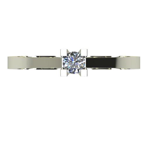 Годежен Пръстен бяло злато с диамант Piece 0,07 ct. 2503 a