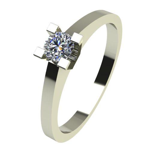 Годежен Пръстен бяло злато с диамант Piece 0,07 ct. 2503
