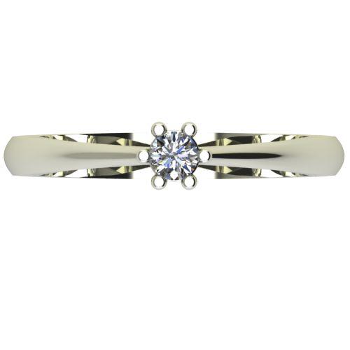 Годежен Пръстен бяло злато с диамант Piece 0,12 ct. 2494 a